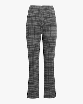 Stili Plaid Crop Flare Pants