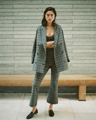 Stili Plaid Car Coat