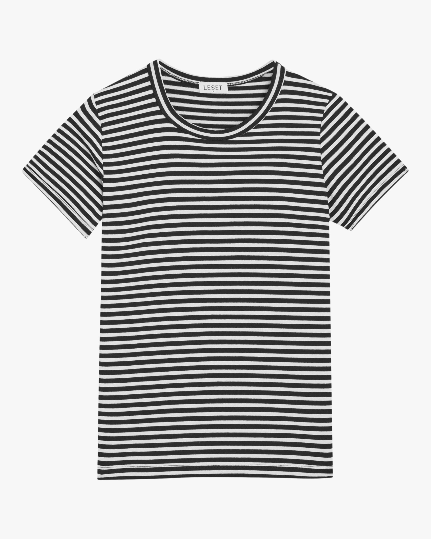 Leset Lia Stripe Slim-Fit Tee 0