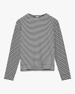 Leset Lia Striped Oversized Crewneck Top 0