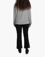 Leset Lia Striped Oversized Crewneck Top 3