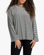 Leset Lia Striped Oversized Crewneck Top 4