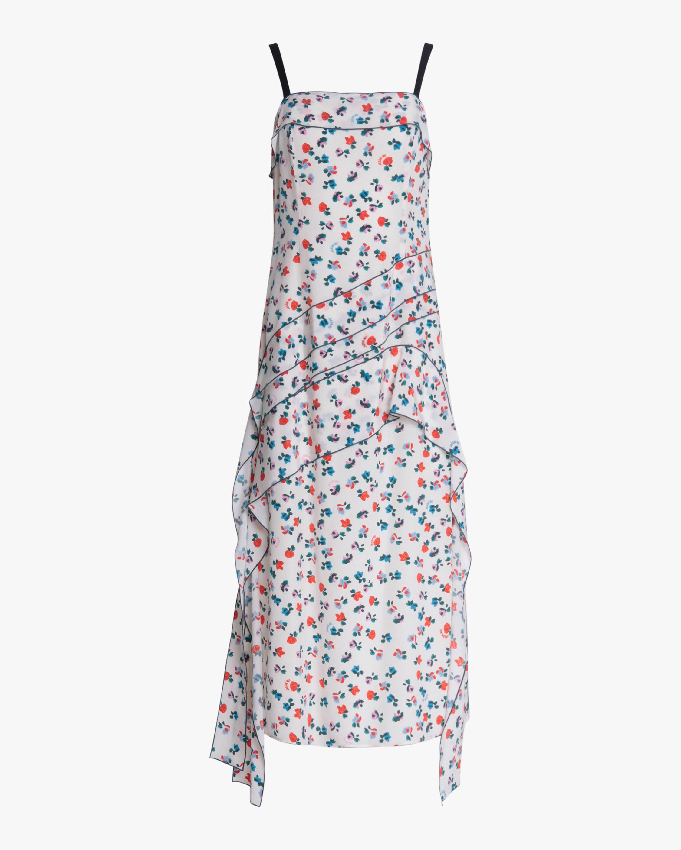 Jason Wu Asymmetric Flounce Dress 0