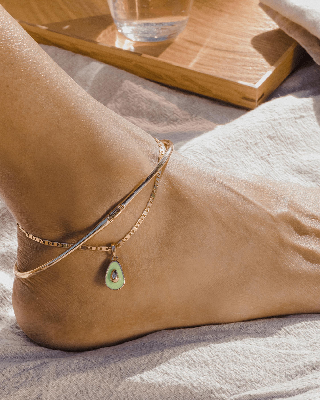Jenny Bird Avocado Anklet 1