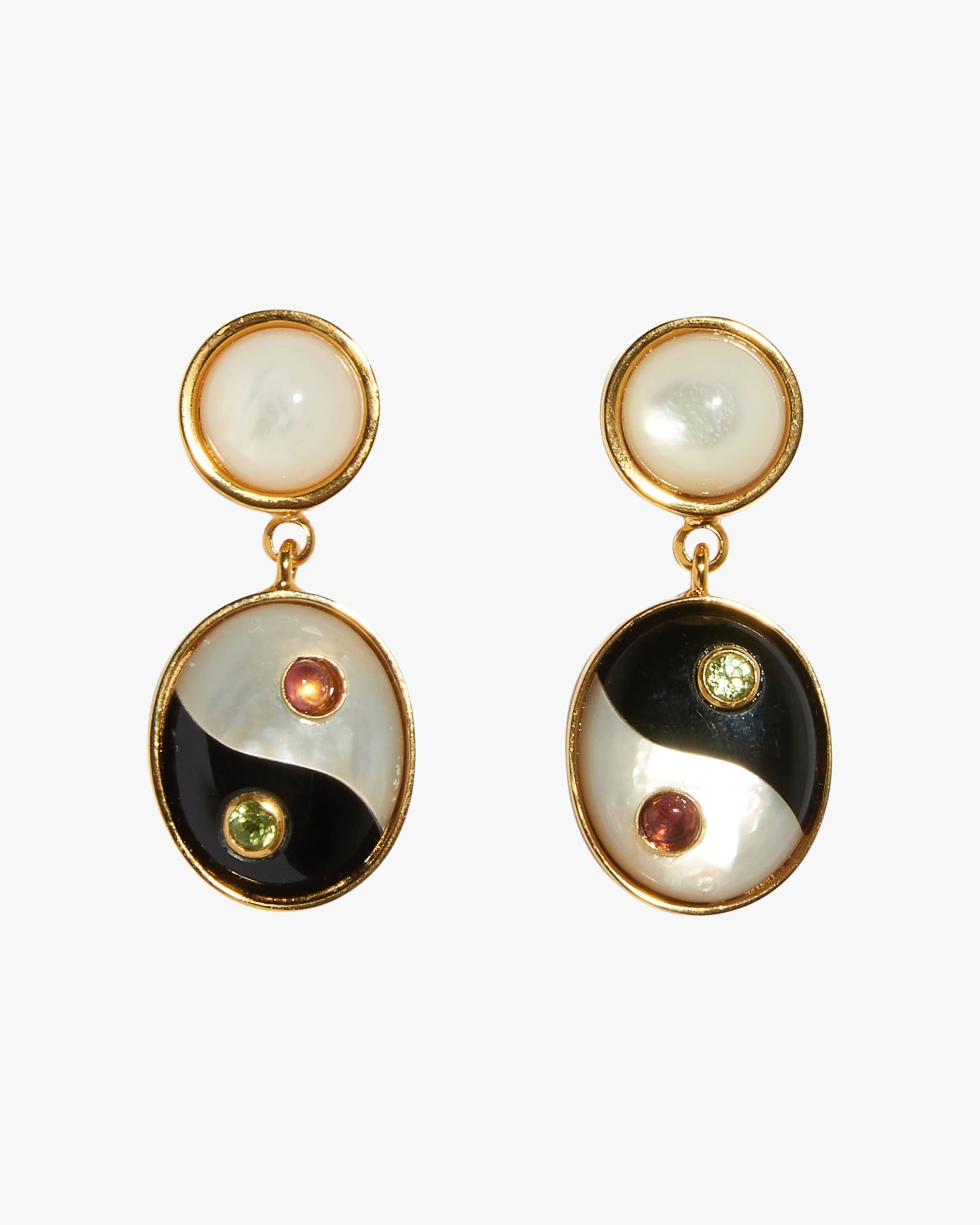 Lizzie Fortunato YIN YANG EARRINGS