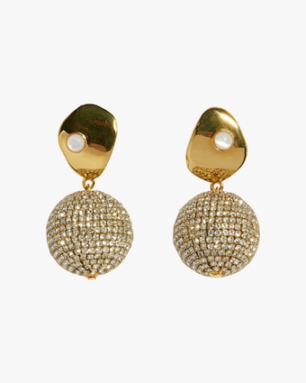 Lizzie Fortunato Crystal Sand Earrings 1