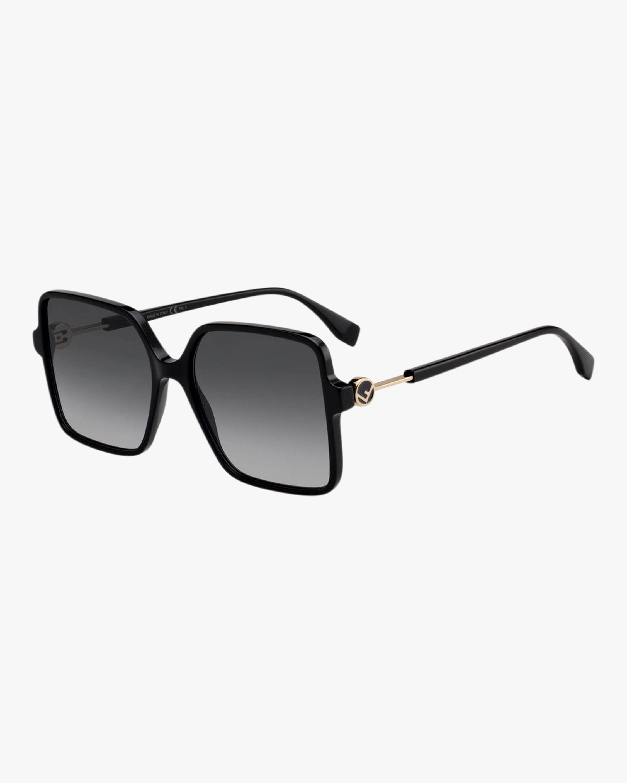 Fendi Black Square Sunglasses 2