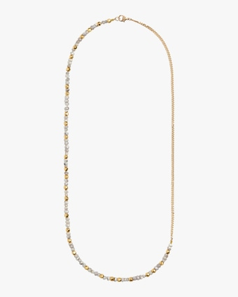 objet-a Sapphire Curb Chain Necklace 1