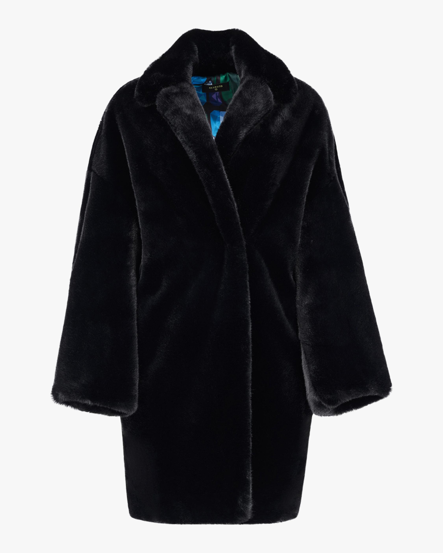 HEURUEH Kimono Faux Fur Coat 1
