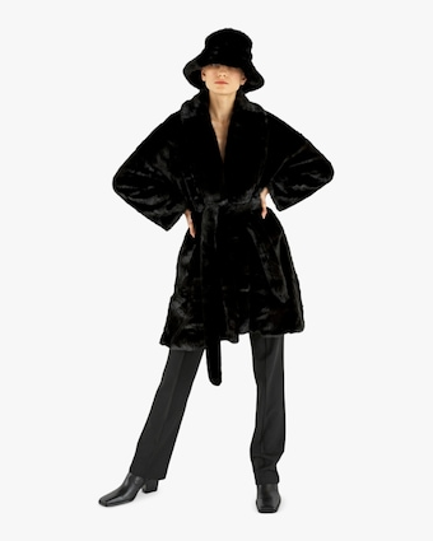 HEURUEH Kimono Faux Fur Coat 2