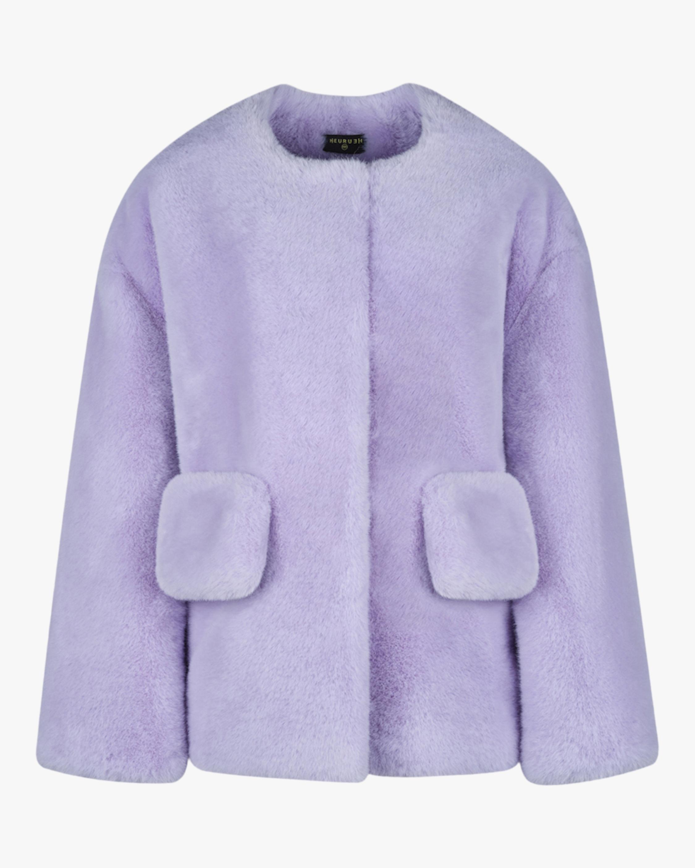 HEURUEH Box Faux Fur Coat 0