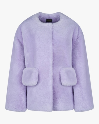 HEURUEH Box Faux Fur Coat 1