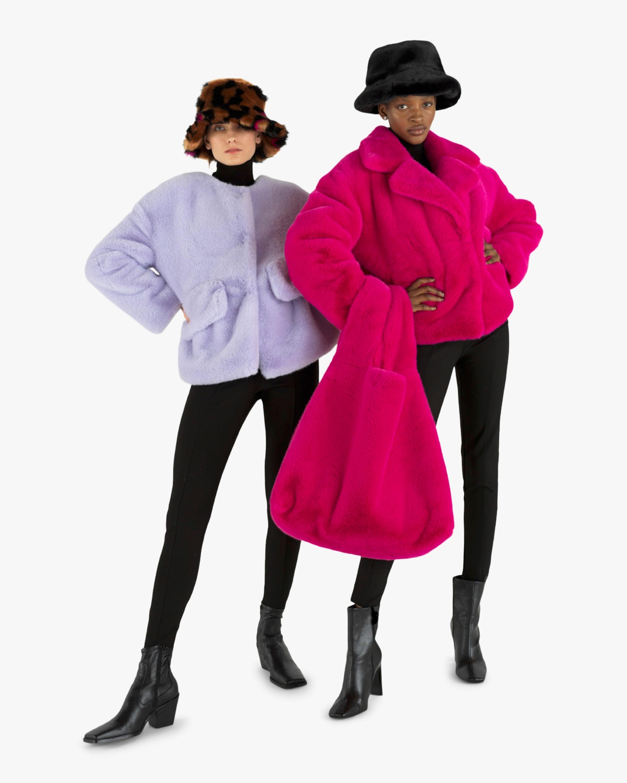 HEURUEH Box Faux Fur Coat 2
