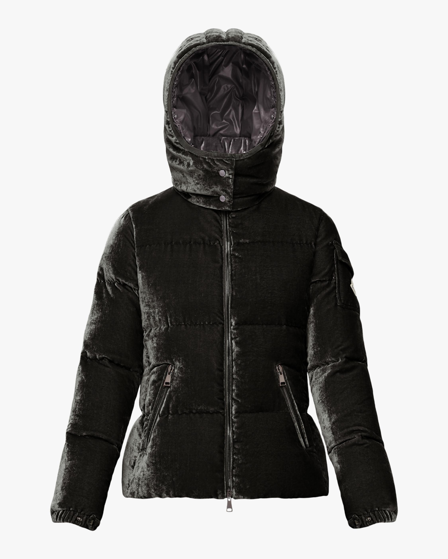 Moncler Fourmi Velvet Puffer Coat 0