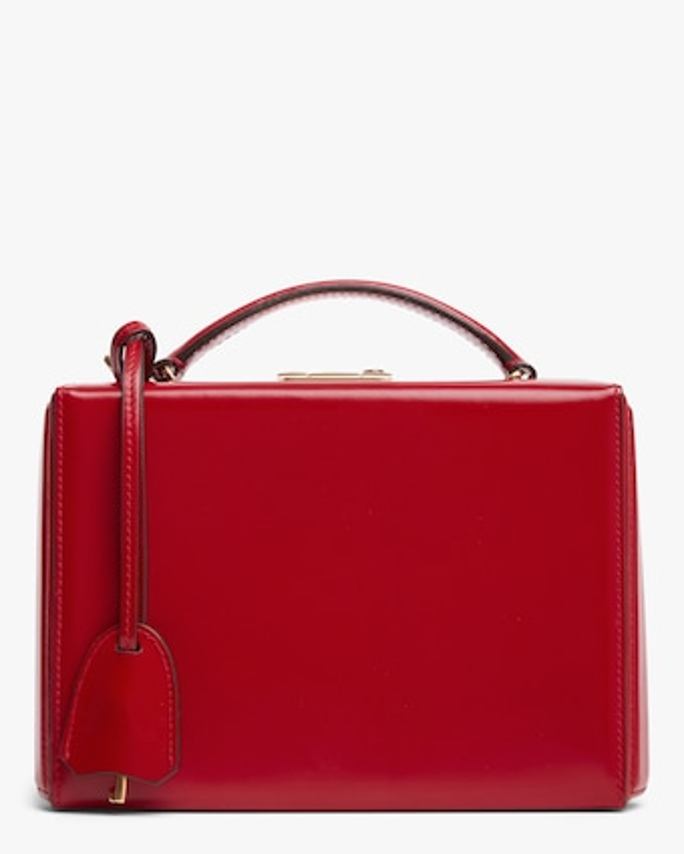 Mark Cross Red Grace Small Box Handbag 1