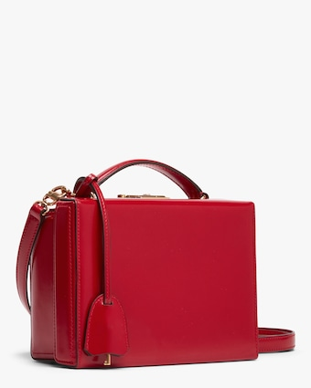 Mark Cross Red Grace Small Box Handbag 2