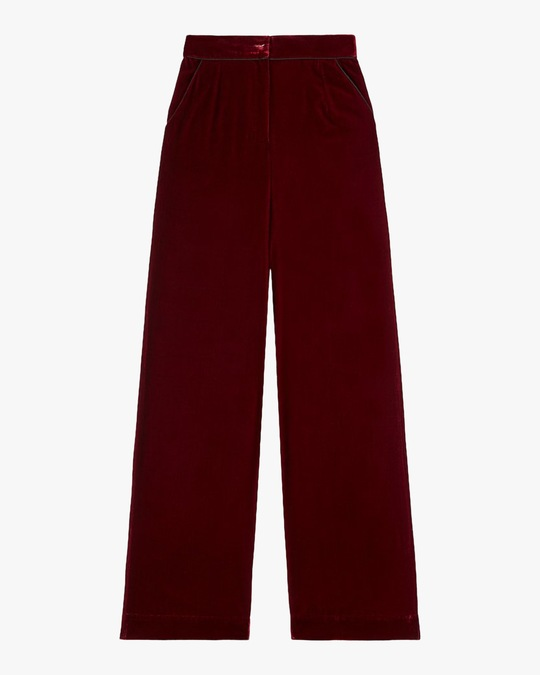 Sleeping with Jacques High-Waist Velvet Pants 0
