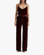 Sleeping with Jacques High-Waist Velvet Pants 1