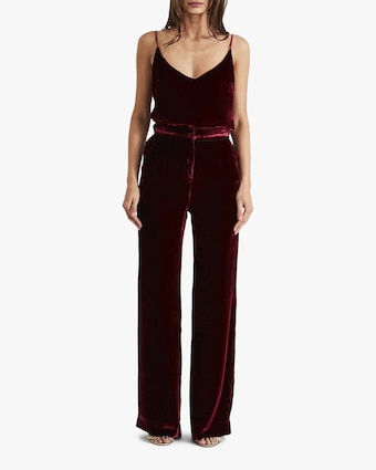 Sleeping with Jacques High-Waist Velvet Pants 2