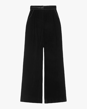 Sleeping with Jacques High-Waisted Velvet Pants 1