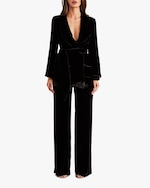 Sleeping with Jacques High-Waisted Velvet Pants 2