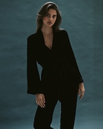 Sleeping with Jacques High-Waisted Velvet Pants 4