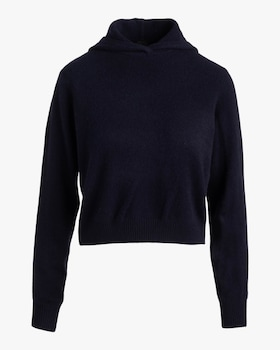 Cropped Cashmere Hoodie