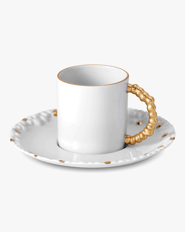 L'Objet Haas Mojave Espresso Cup & Saucer 0