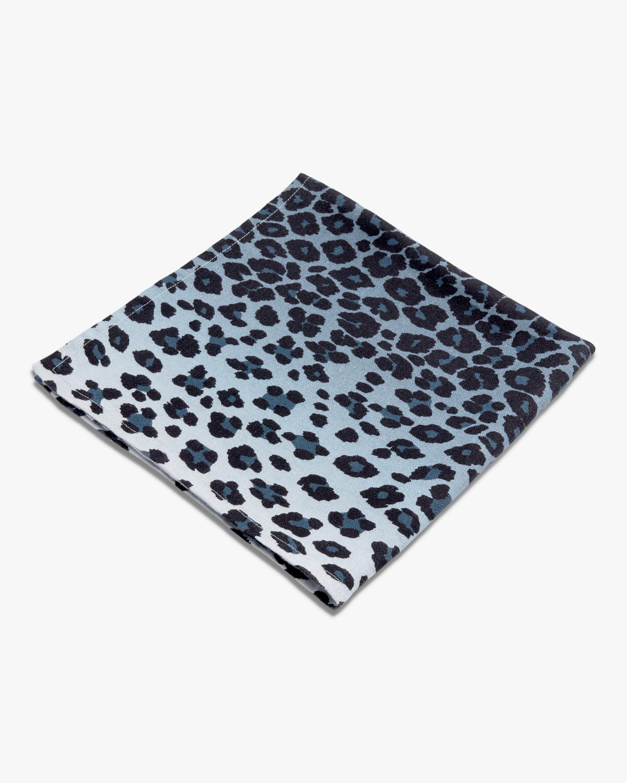 L'Objet Linen Sateen Leopard Napkins Set of 4 2