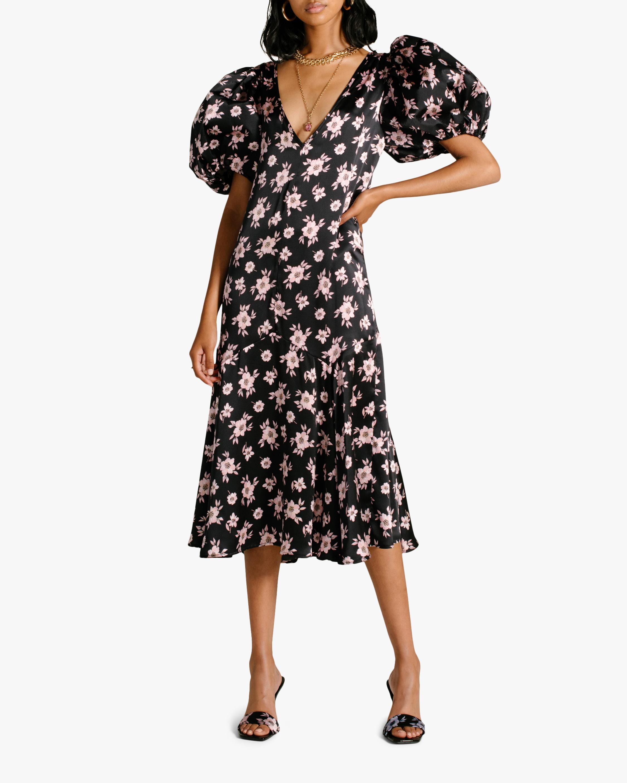 Van Der Kooij Silk Cottage Floral Puff-Sleeve Maxi Dress 1