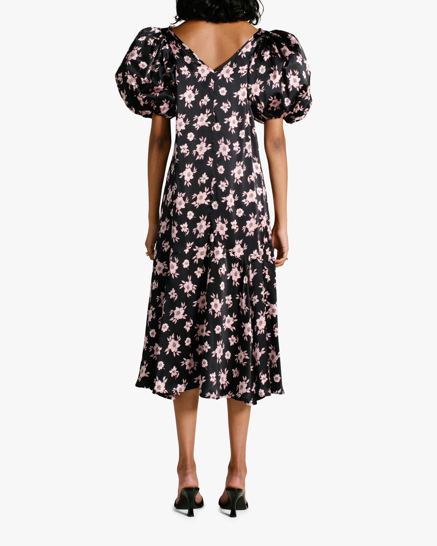 Van Der Kooij Silk Cottage Floral Puff-Sleeve Maxi Dress 2
