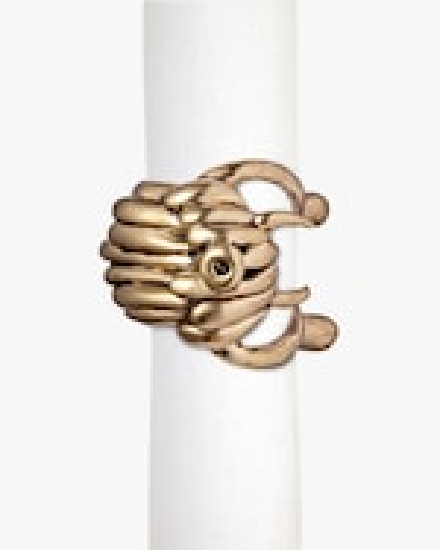 L'Objet Haas Monster Ball Napkin Ring - Set of 4 2