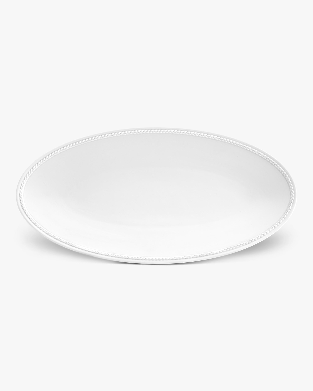 L'Objet Soie Tressée Small Oval Platter 0