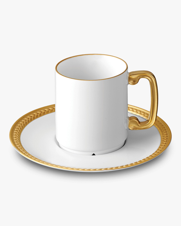 L'Objet Soie Tressée Espresso & Cup Saucer 0