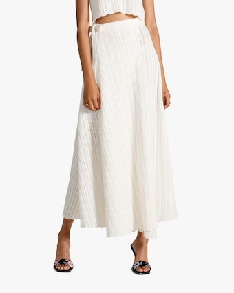 Van Der Kooij Lily Scalloped-Hem Wrap Skirt 1
