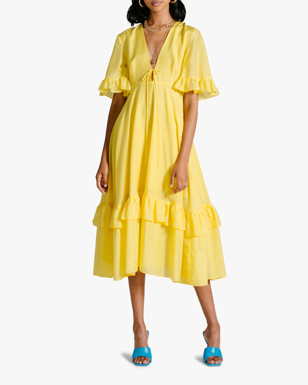 Van Der Kooij Dahlia Frill Maxi Dress 1
