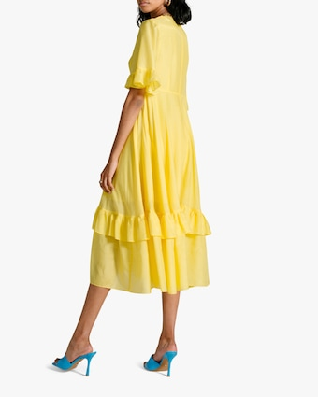 Van Der Kooij Dahlia Frill Maxi Dress 2