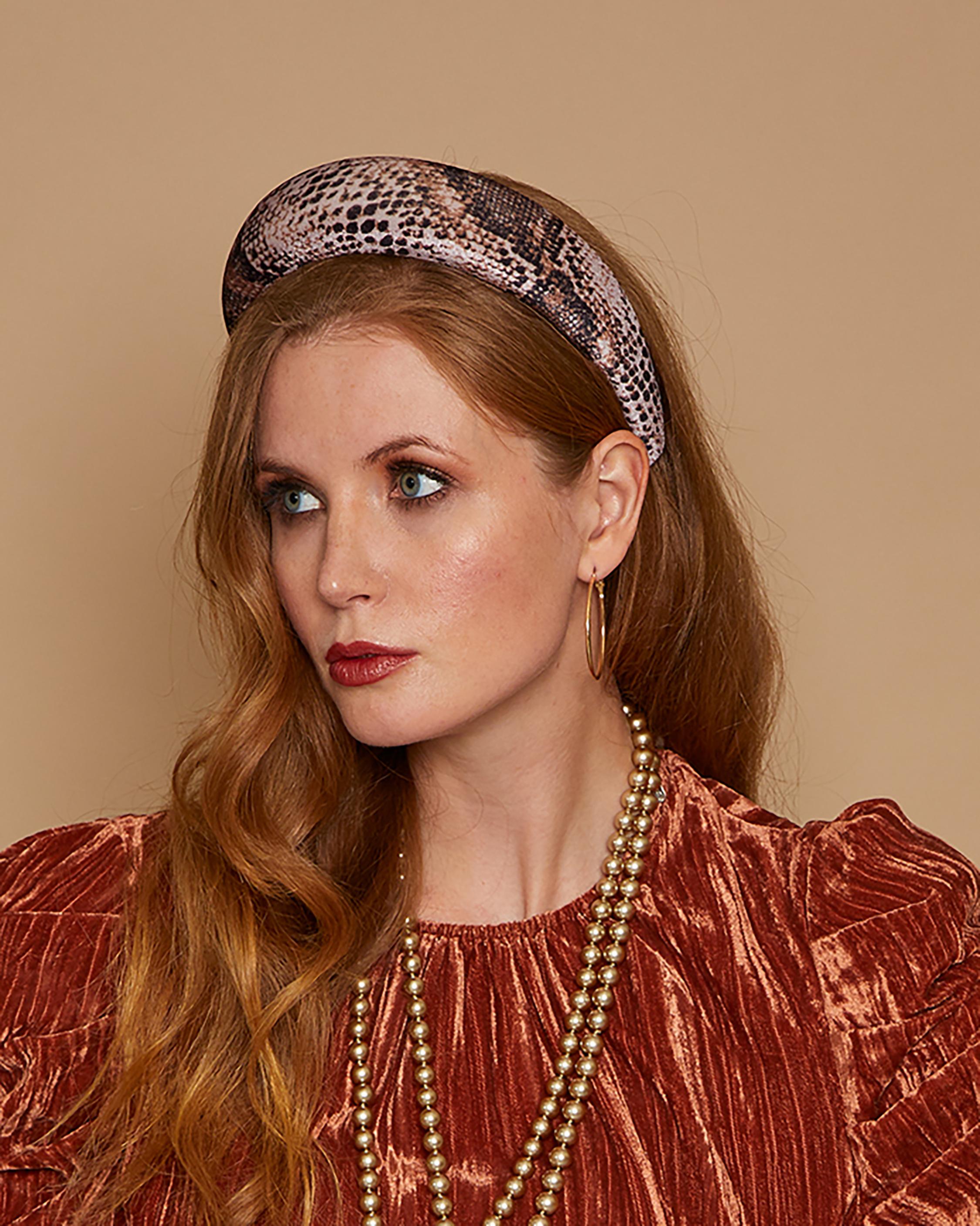 Eugenia Kim Cora Snake Print Headband 2