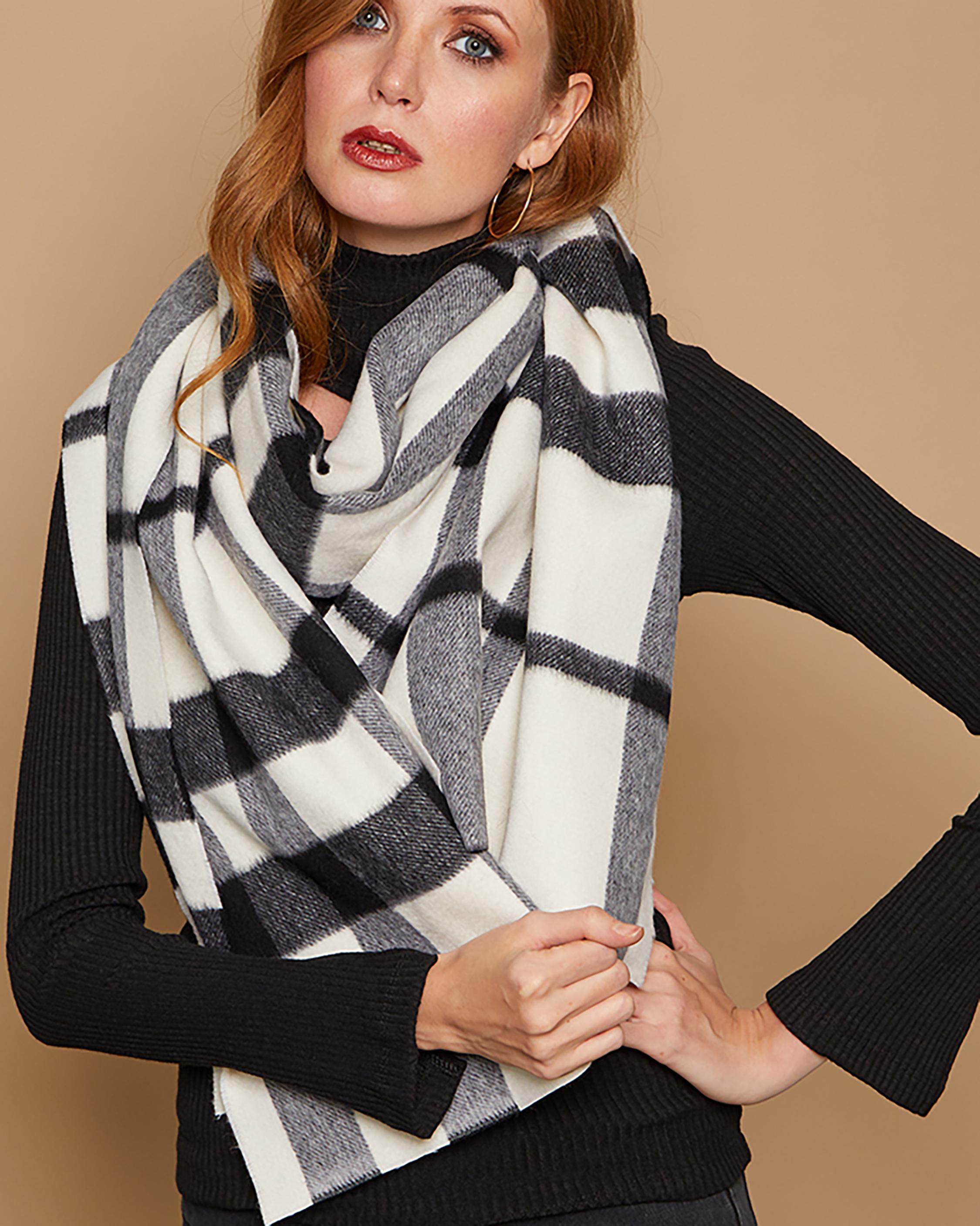 Eugenia Kim Peyton Plaid Wool Scarf 0