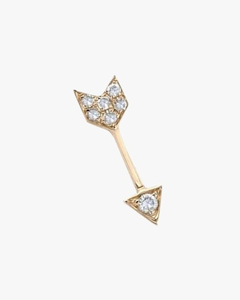 EF Collection Single Diamond Arrow Stud Earrings 1
