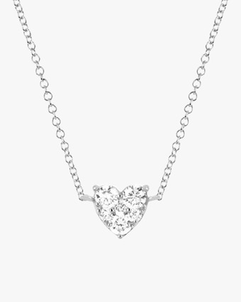 EF Collection Full-Cut Diamond Heart Choker 1