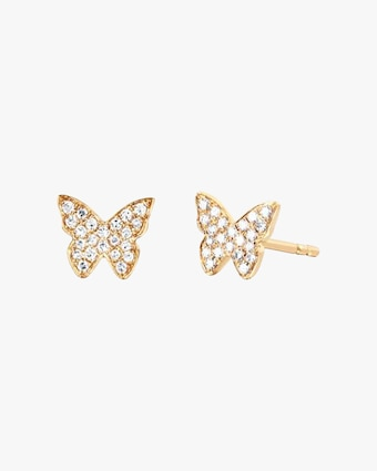 EF Collection Diamond Butterfly Stud Earrings 1