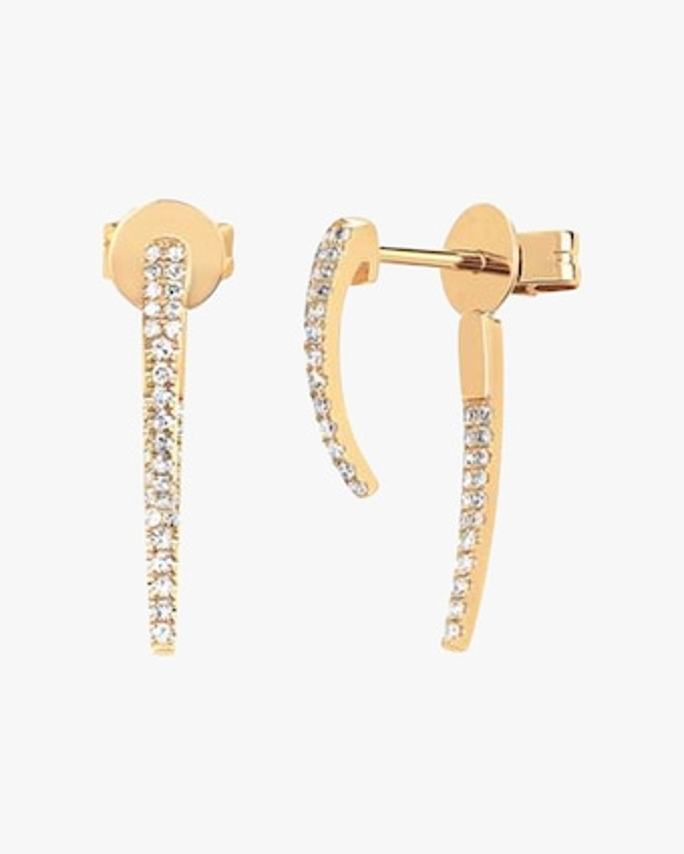 EF Collection Diamond Hook Earrings 1
