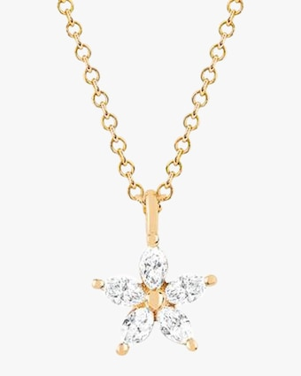 EF Collection Marquise Diamond Flower Choker 1