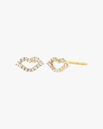 EF Collection Diamond Kiss Stud Earrings 1