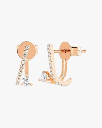 EF Collection Diamond Illusion Stud Earrings 1