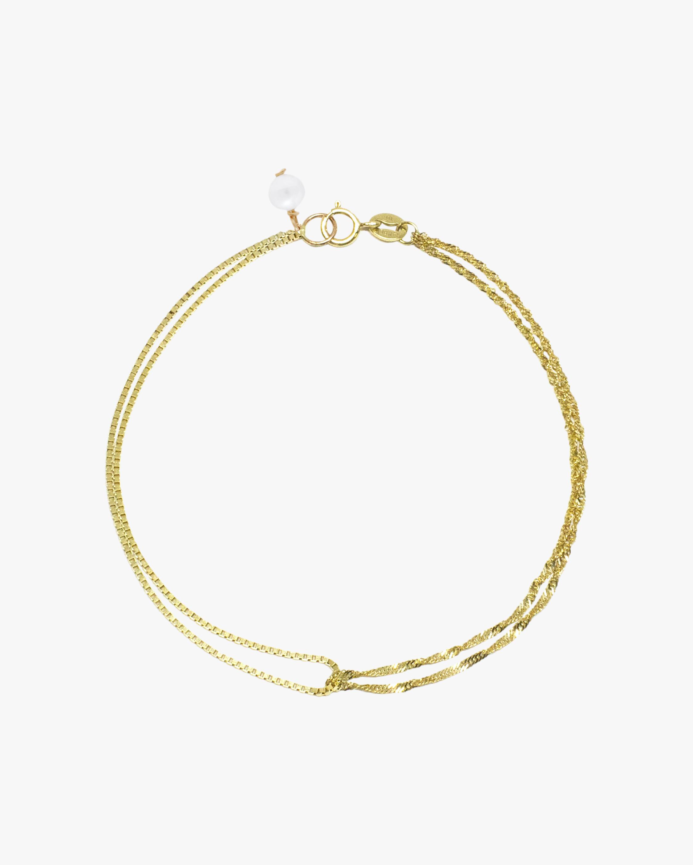 Poppy Finch Double Box Chain Shimmer Bracelet 1