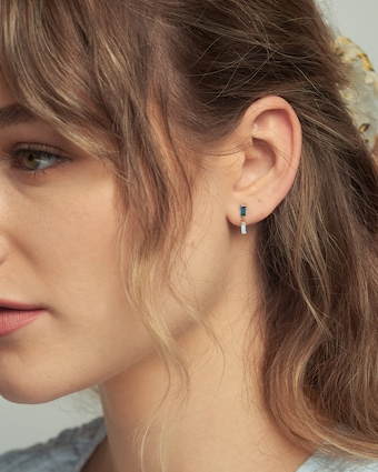Poppy Finch Blue Topaz Stud Earrings 2