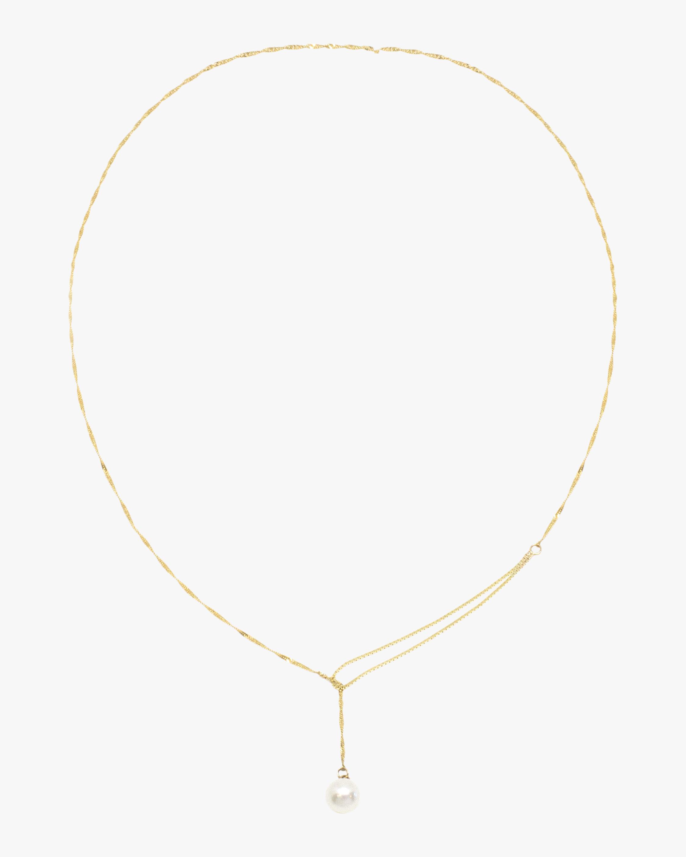 Poppy Finch Shimmer Pearl Lariat 1