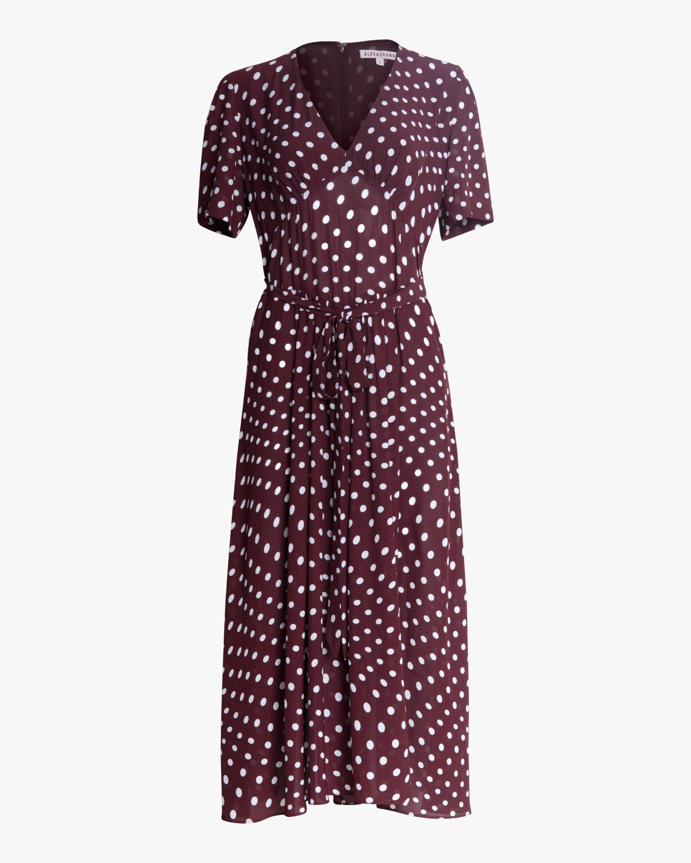 ALEXACHUNG Gathered Tie-Waist Dress 0